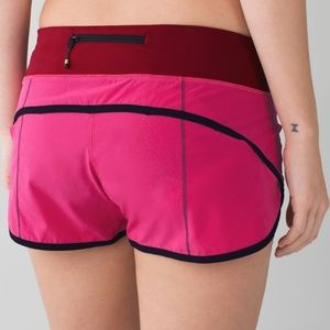 Lululemon Run Speed Shorts Jewelled Magenta 4 way